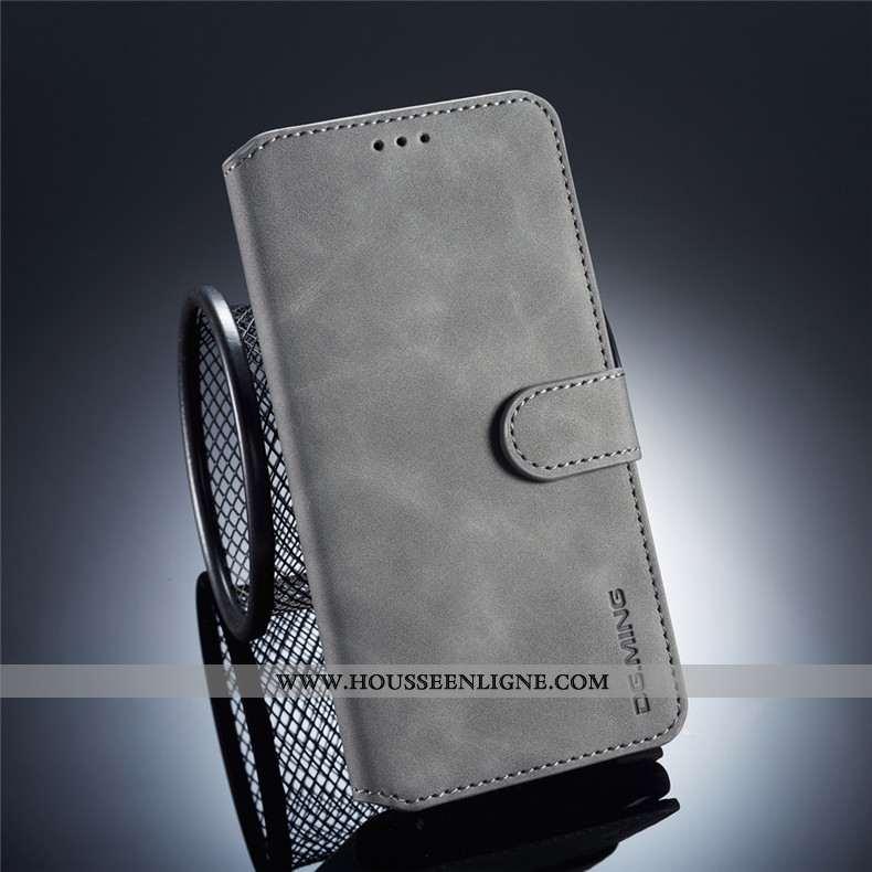 Housse Huawei Mate 20 Pro Protection Portefeuille Téléphone Portable Fluide Doux Gris Coque Carte