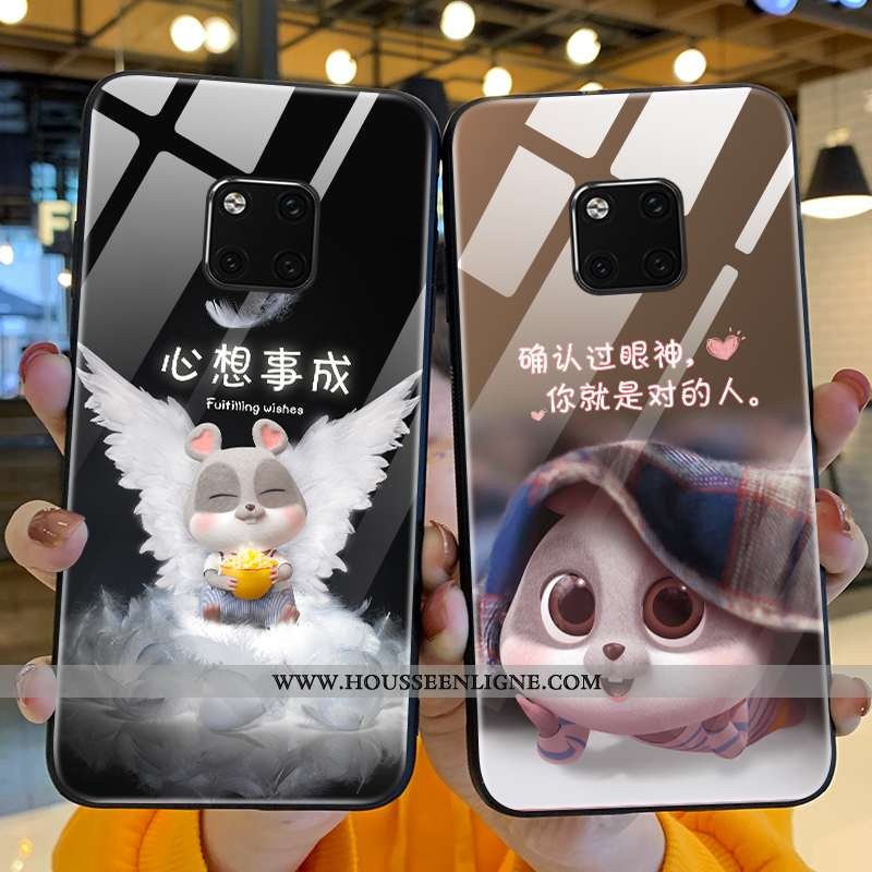 Housse Huawei Mate 20 Pro Silicone Verre Téléphone Portable Tout Compris Coque Petit Dessin Animé No