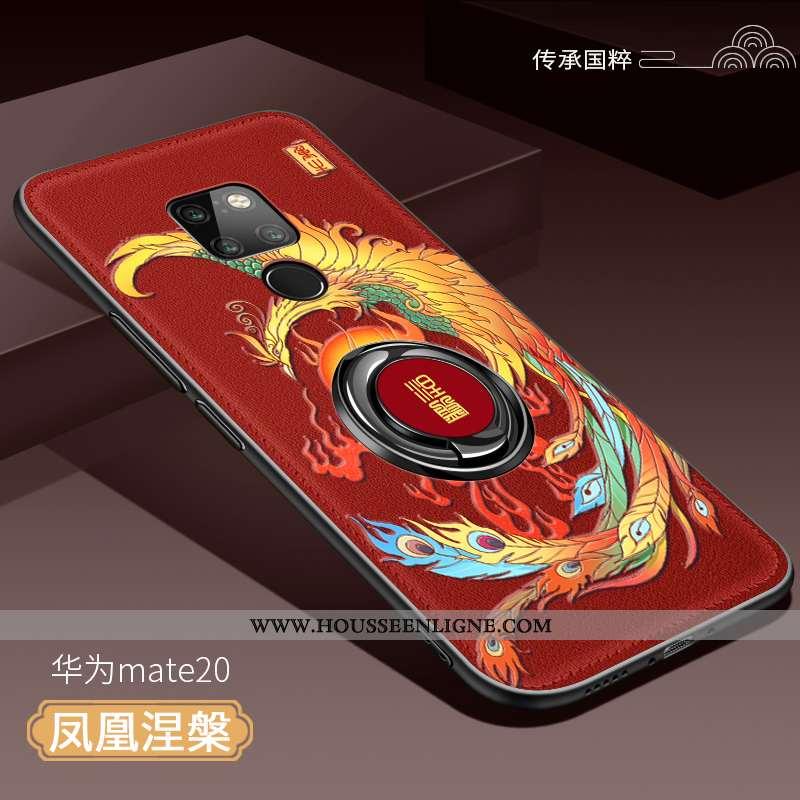 Housse Huawei Mate 20 Protection Ultra Tendance Étui Téléphone Portable Magnétisme Incassable Rouge
