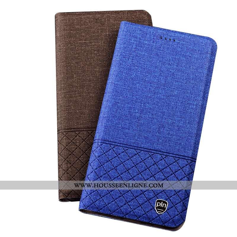 Housse Huawei Mate 20 Rs Cuir Protection Téléphone Portable Étui Plaid Bleu Coque