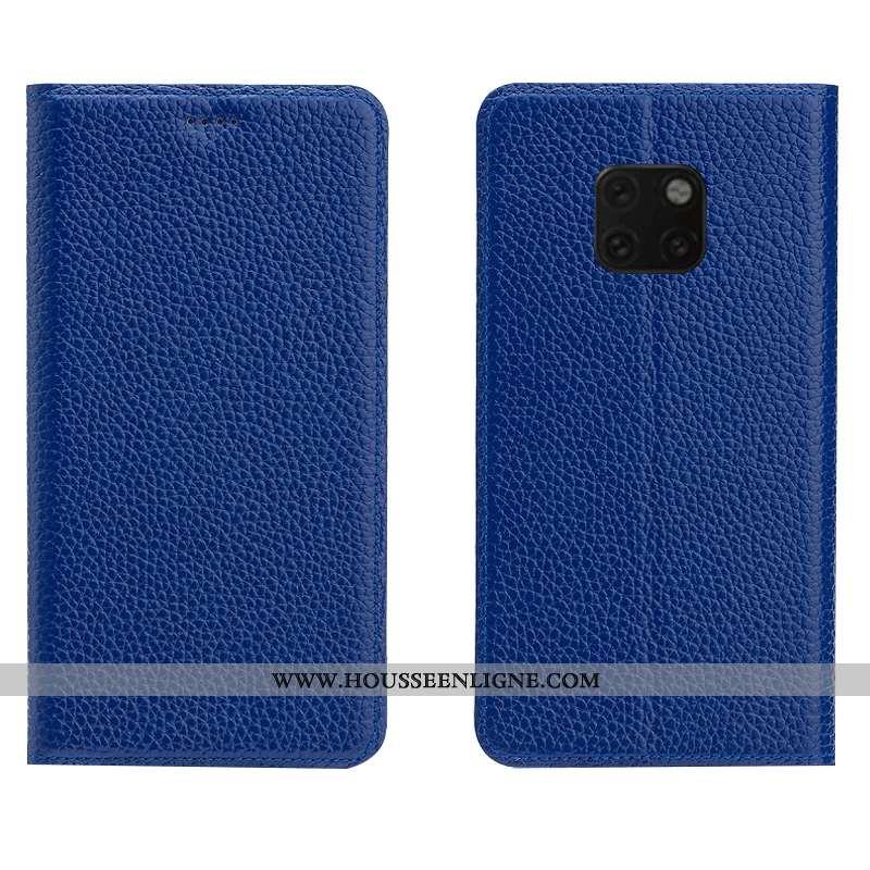 Housse Huawei Mate 20 Rs Cuir Véritable Cuir Modèle Fleurie Téléphone Portable Incassable Tout Compr