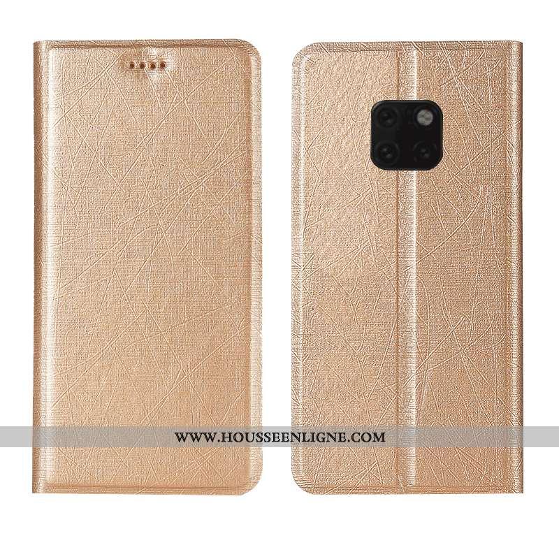 Housse Huawei Mate 20 Rs Modèle Fleurie Cuir Téléphone Portable Étui Or Coque Soie Doré
