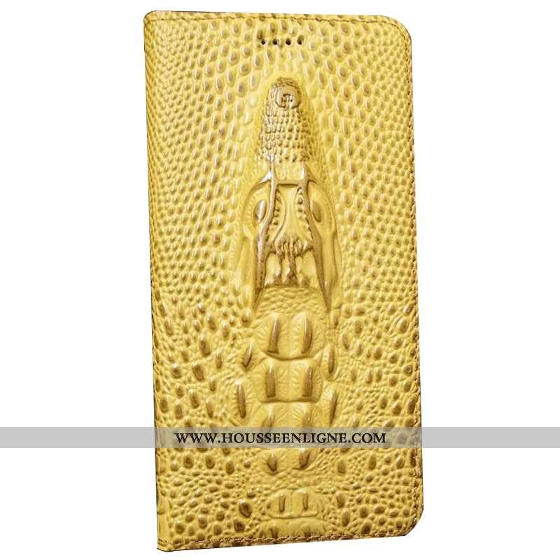 Housse Huawei Mate 20 Rs Modèle Fleurie Protection Téléphone Portable Cuir Jaune Coque Incassable