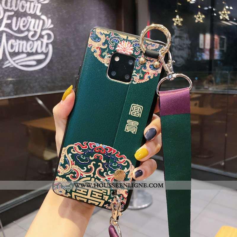 Housse Huawei Mate 20 Rs Protection Personnalité Tendance Coque Vert Net Rouge Incassable Verte