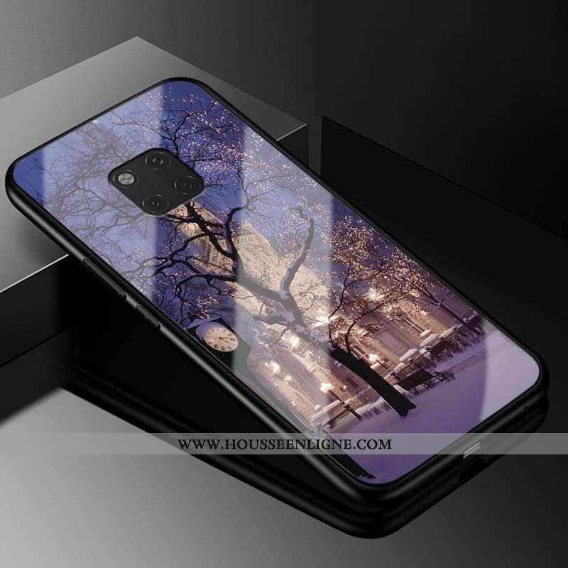 Housse Huawei Mate 20 Rs Protection Verre Fluide Doux Coque Mode Europe Nouveau Violet