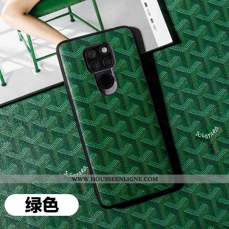 Housse Huawei Mate 20 X Légère Cuir Coque Luxe Véritable Étui Tendance Tout Compris Verte