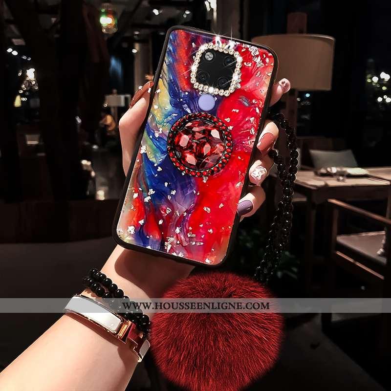 Housse Huawei Mate 20 X Personnalité Créatif Coque Étui Luxe Mode Tendance Rouge
