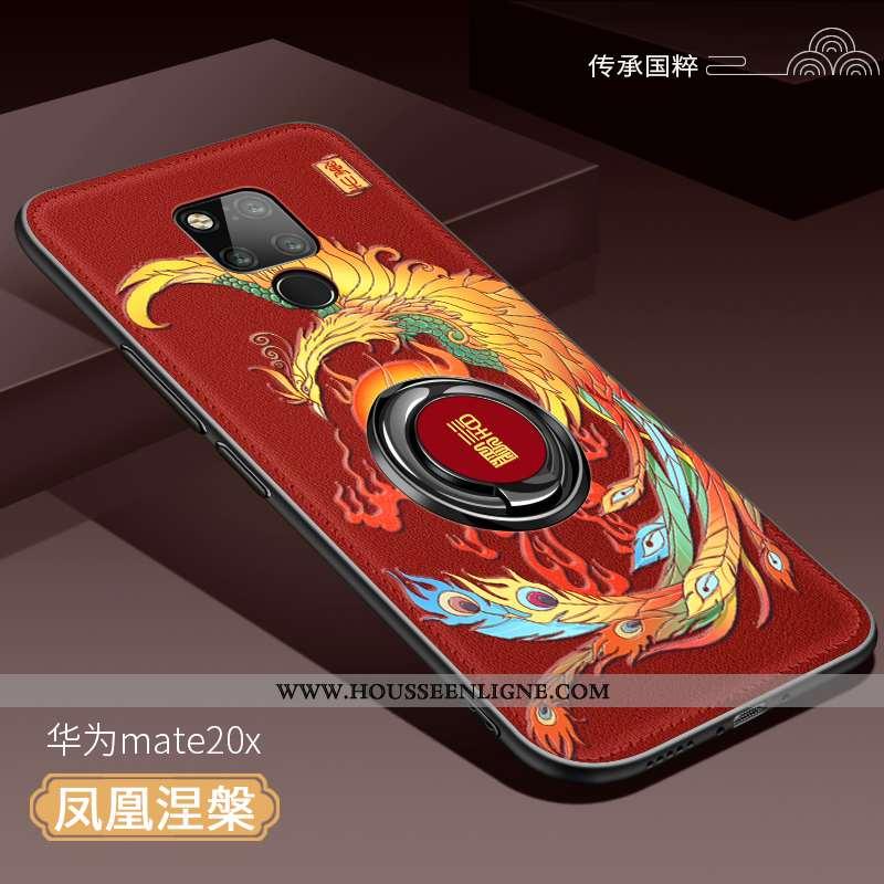 Housse Huawei Mate 20 X Silicone Protection Étui Ultra Tendance Légère Téléphone Portable Rouge