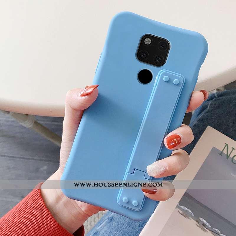 Housse Huawei Mate 20 X Tendance Légère Couleur Unie Bleu Tout Compris Téléphone Portable Simple