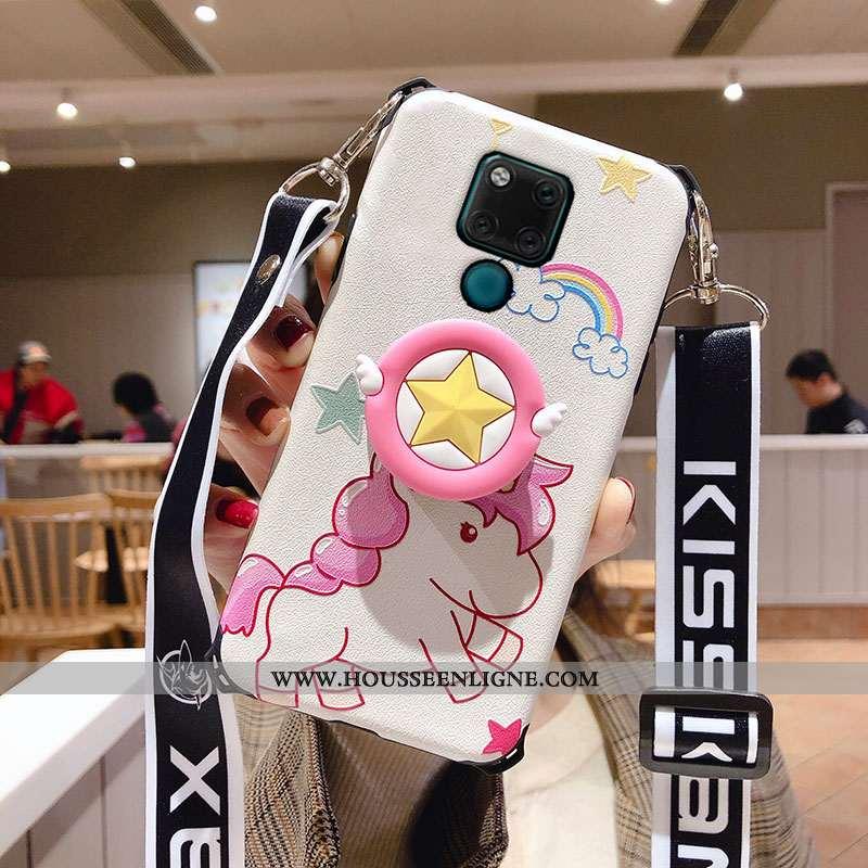 Housse Huawei Mate 20 X Ultra Légère Étui Dessin Animé Rouge Téléphone Portable Support Rose