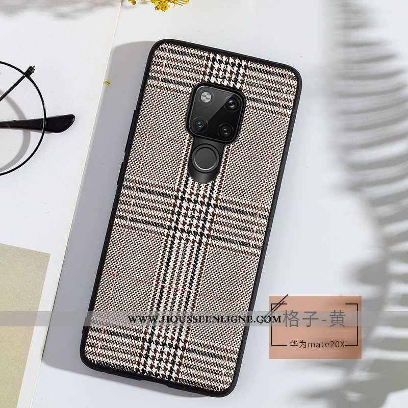 Housse Huawei Mate 20 X Ultra Tendance Cuir Incassable Tout Compris Bovins Fluide Doux Gris