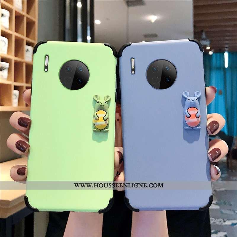 Housse Huawei Mate 30 Dessin Animé Modèle Fleurie Personnalité Incassable Rat Étui Téléphone Portabl