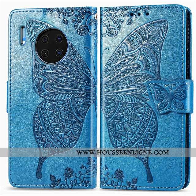 Housse Huawei Mate 30 Fluide Doux Protection Étui Téléphone Portable Bleu Incassable