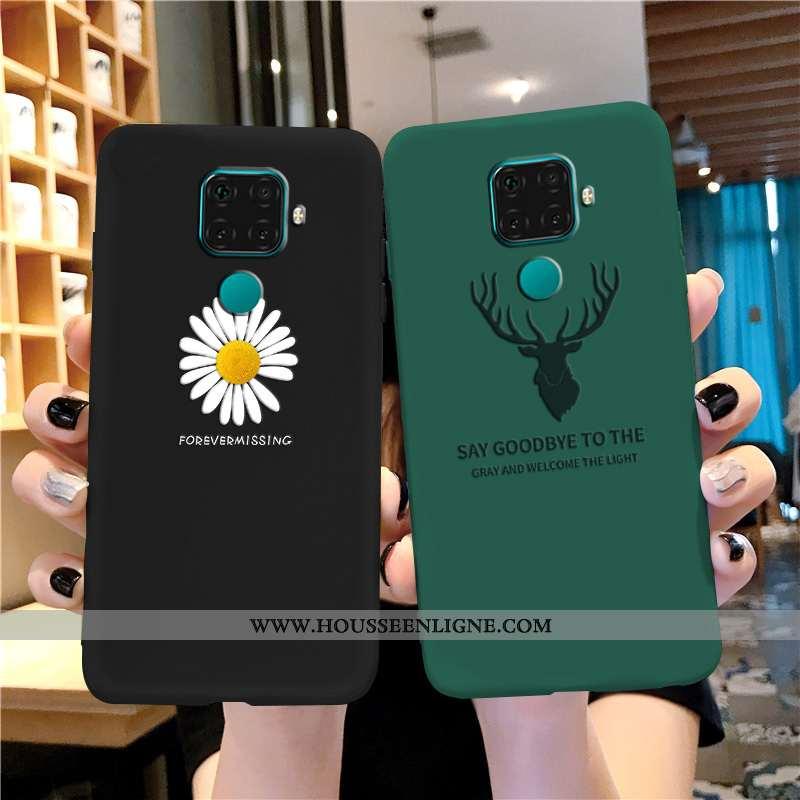 Housse Huawei Mate 30 Lite Créatif Tendance Noir Tout Compris Fluide Doux Étui Téléphone Portable