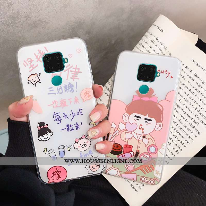 Housse Huawei Mate 30 Lite Fluide Doux Ornements Suspendus Dessin Animé Étui Net Rouge Téléphone Por