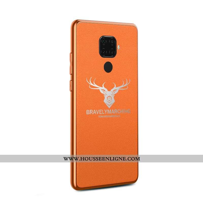 Housse Huawei Mate 30 Lite Mode Protection Coque Téléphone Portable Tendance Étui Orange