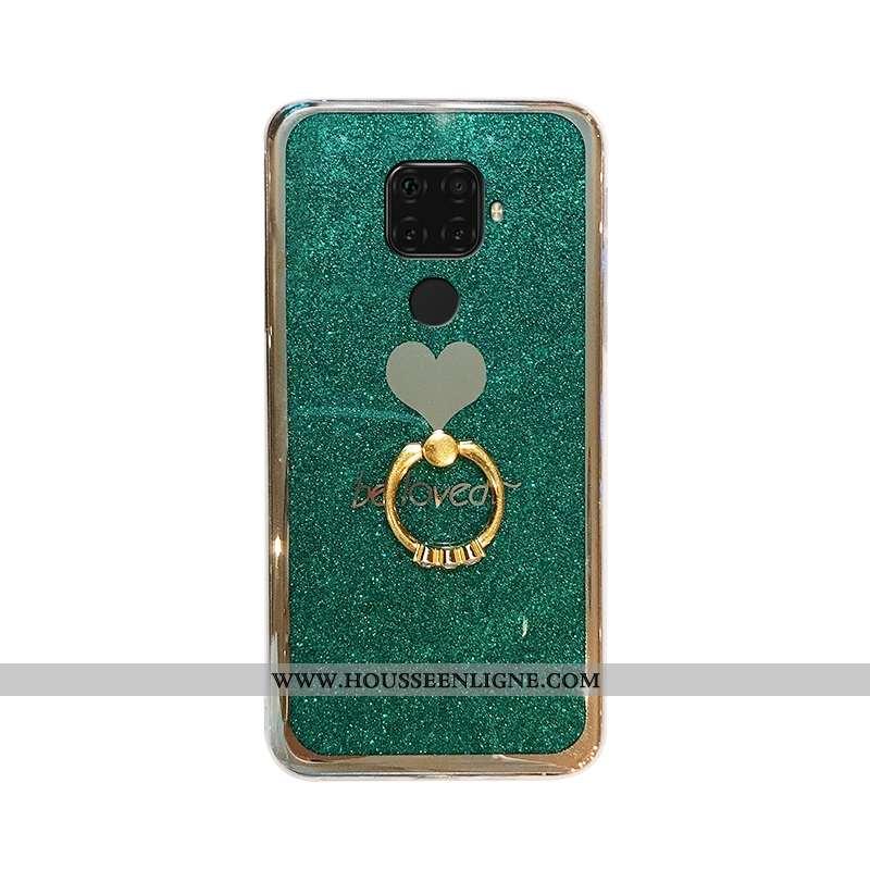Housse Huawei Mate 30 Lite Personnalité Fluide Doux Vert Rose Étui Téléphone Portable Une Agrafe Ver