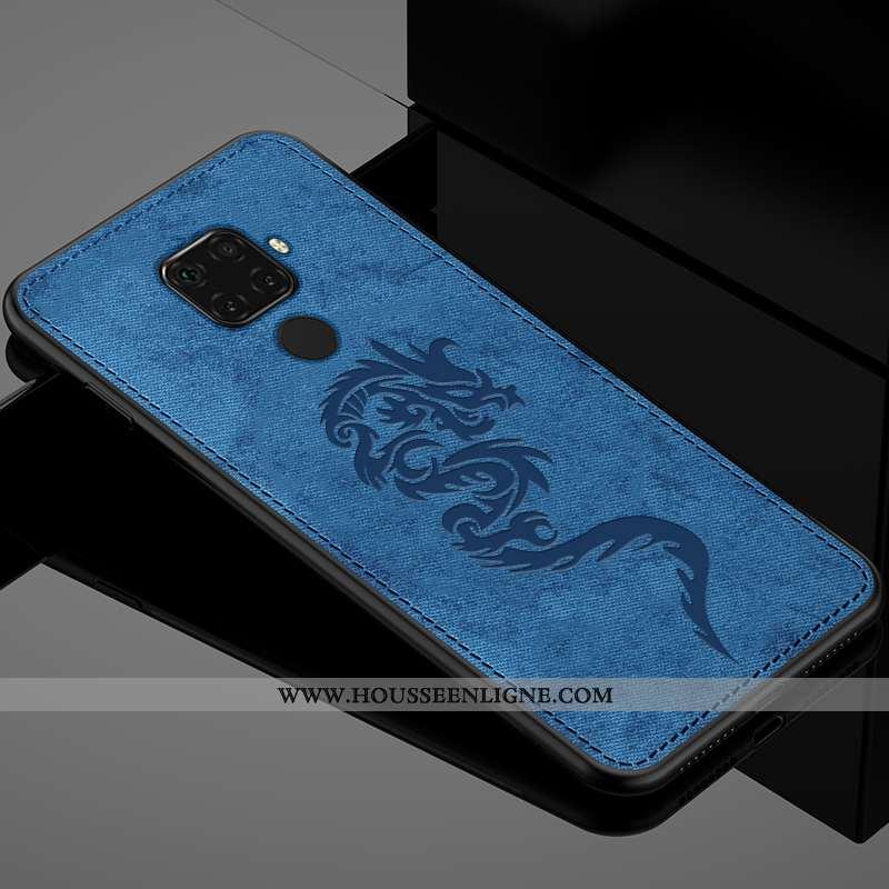 Housse Huawei Mate 30 Lite Silicone Protection Couvercle Arrière Bleu Étui Coque Simple