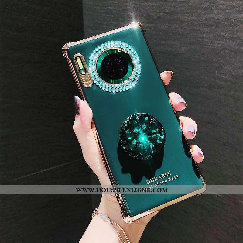 Housse Huawei Mate 30 Pro Créatif Fluide Doux Bovins Luxe Silicone Téléphone Portable Vert Verte