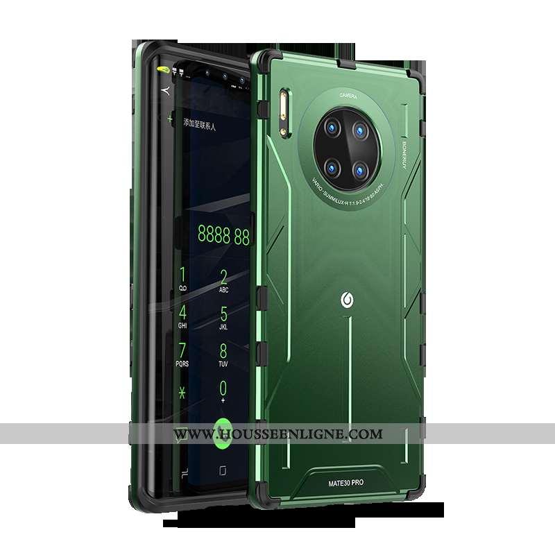 Housse Huawei Mate 30 Pro Protection Personnalité Tendance Coque Net Rouge Légère Silicone Verte
