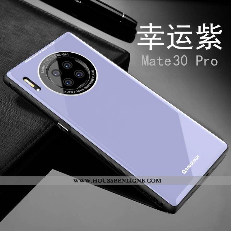 Housse Huawei Mate 30 Pro Ultra Tendance Légère Créatif Incassable Protection Fluide Doux Violet