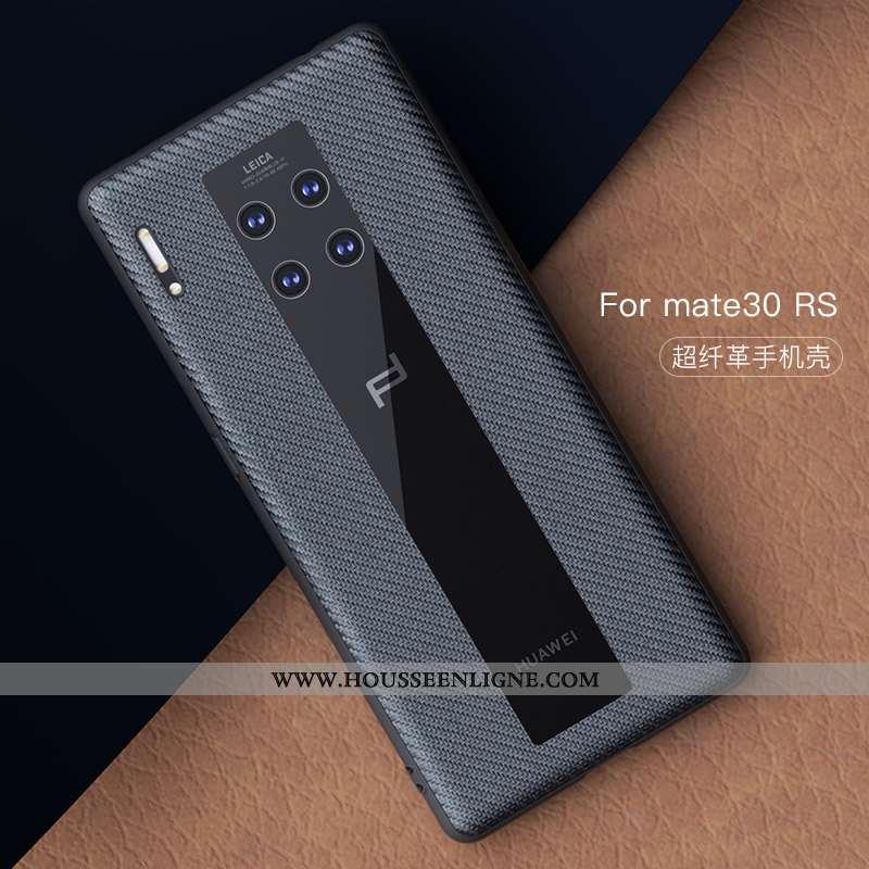 Housse Huawei Mate 30 Rs Cuir Protection Coque Incassable Téléphone Portable Fibre Tout Compris Noir