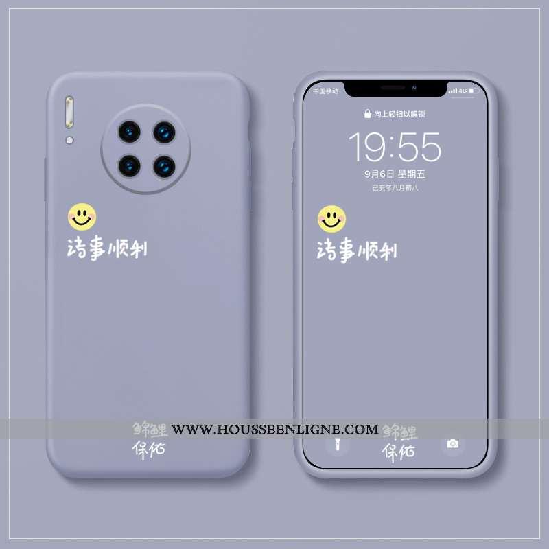 Housse Huawei Mate 30 Silicone Protection Délavé En Daim Amoureux Tout Compris Fluide Doux Bleu