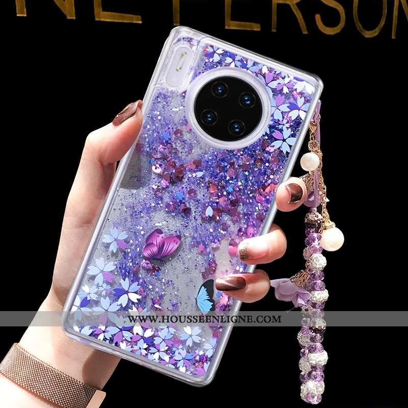 Housse Huawei Mate 30 Tendance Quicksand Téléphone Portable Violet Coque Liquide Tout Compris