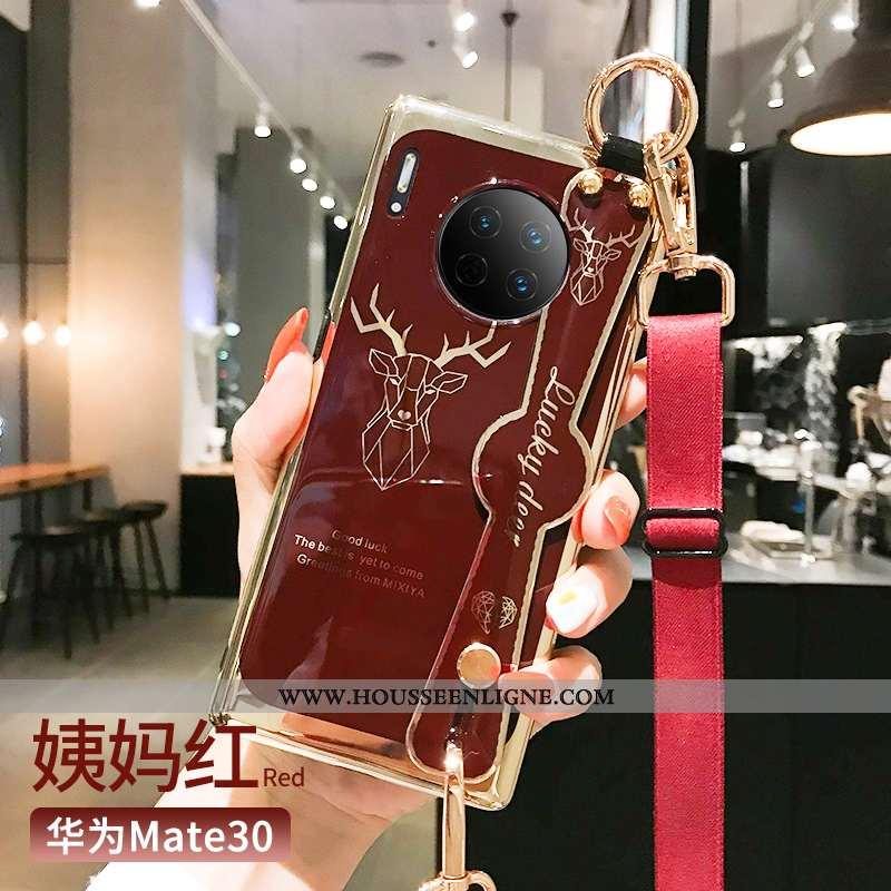 Housse Huawei Mate 30 Ultra Tendance Coque Légère Net Rouge Rouge Personnalité