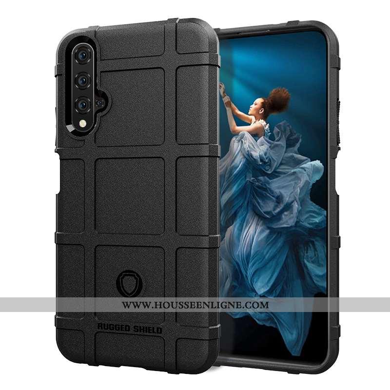 Housse Huawei Nova 5t Protection Fluide Doux Téléphone Portable Incassable Étui Silicone Coque Noir