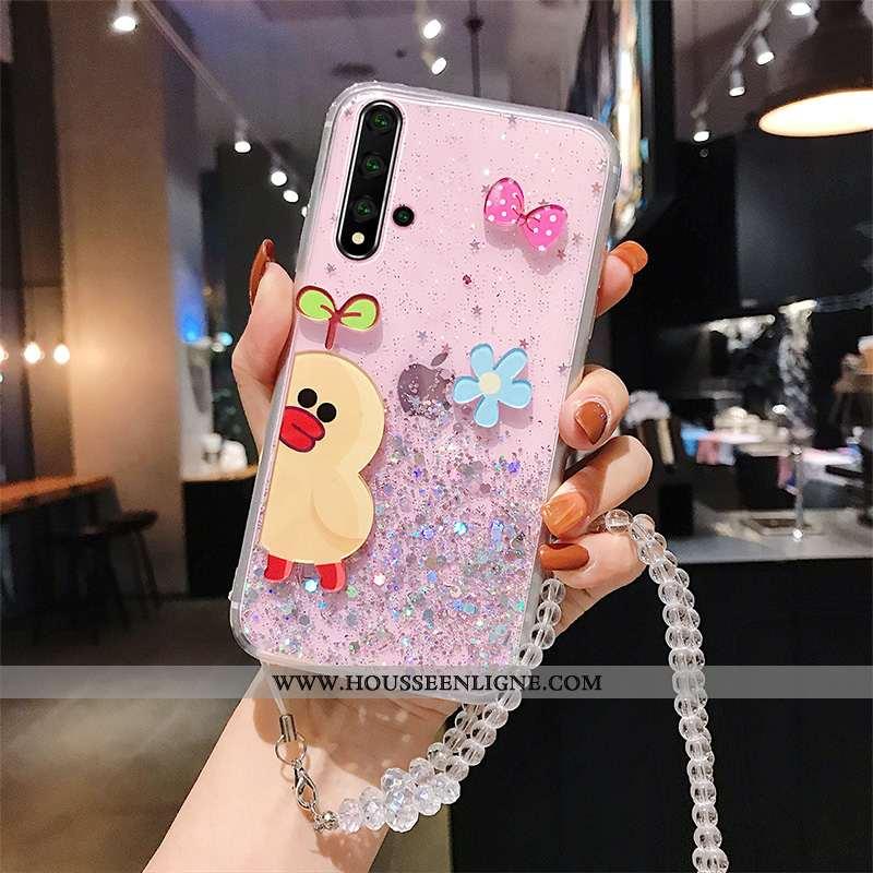 Housse Huawei Nova 5t Silicone Mode Fluide Doux Coque Tout Compris Charmant Téléphone Portable Blanc