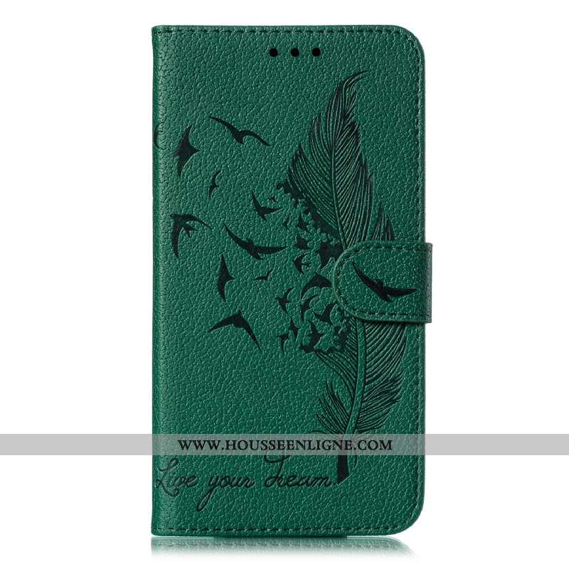 Housse Huawei P Smart 2020 Cuir Portefeuille Téléphone Portable Vert Incassable Coque Étui Verte