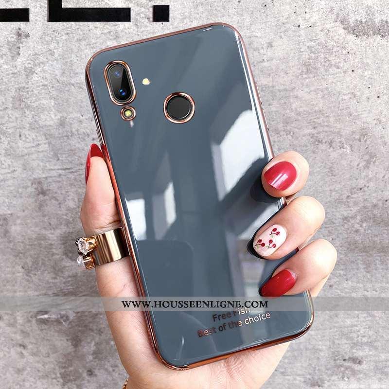 Housse Huawei P Smart 2020 Fluide Doux Silicone Tout Compris Gris Vert Coque Pu