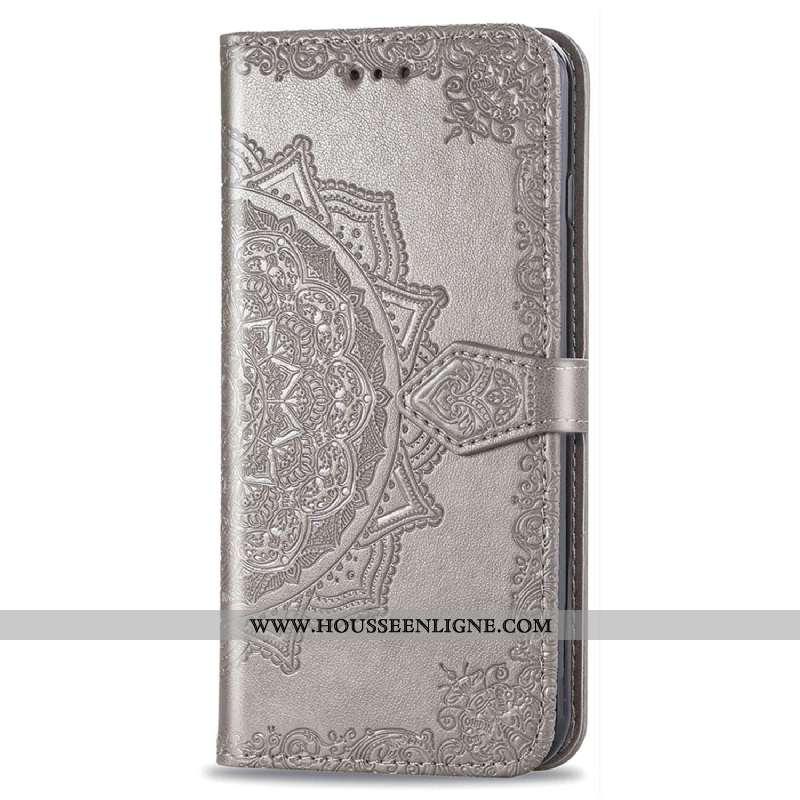 Housse Huawei P Smart 2020 Gaufrage Cuir Coque Étui Clamshell Gris Téléphone Portable