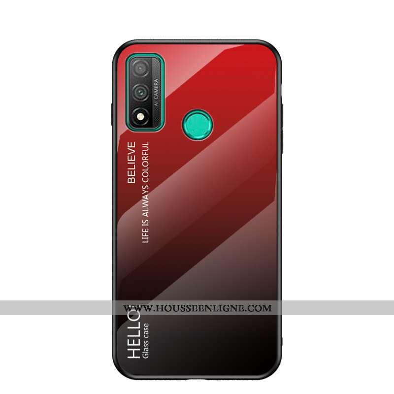 Housse Huawei P Smart 2020 Protection Verre Tempérer Protection Contre Les Explosions Étui Rouge Flu