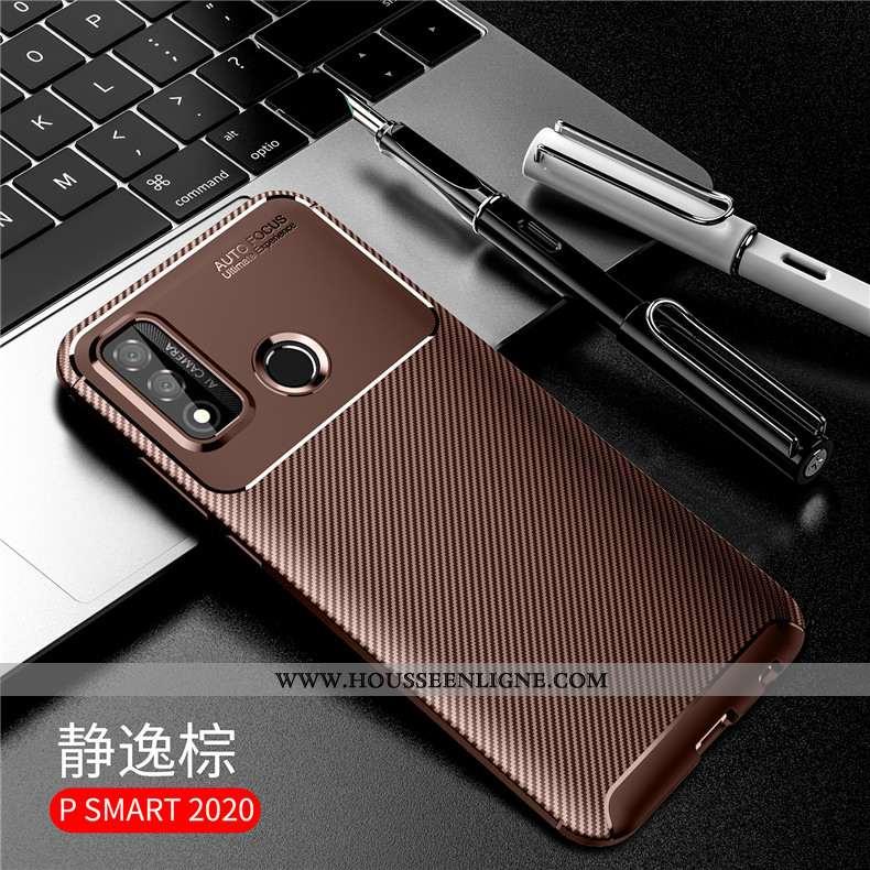 Housse Huawei P Smart 2020 Silicone Accessoires Coque Marron Étui Protection Incassable