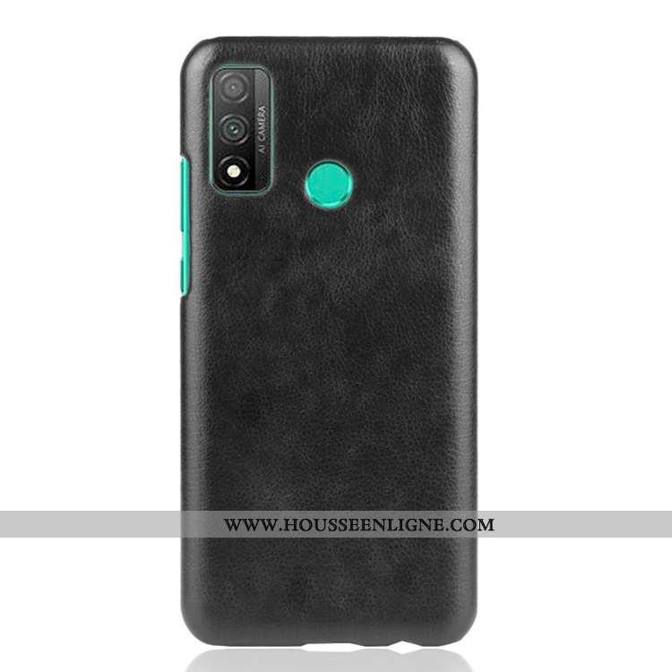 Housse Huawei P Smart 2020 Tendance Cuir Incassable Délavé En Daim Noir Coque Étui