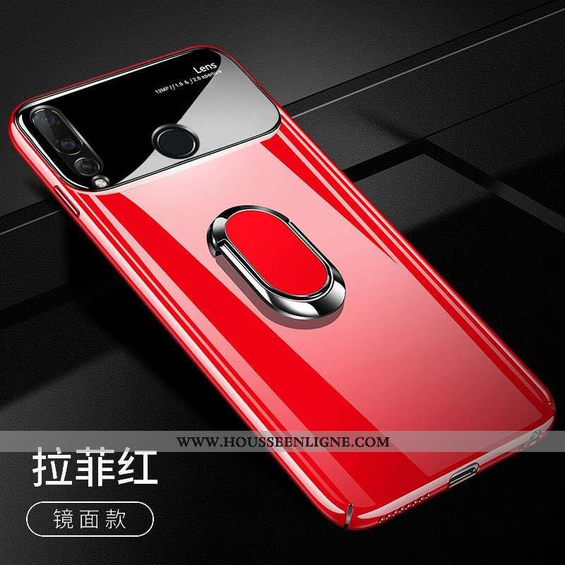 Housse Huawei P Smart+ 2020 Tendance Légère Pu Personnalité Difficile Ultra Téléphone Portable Rouge