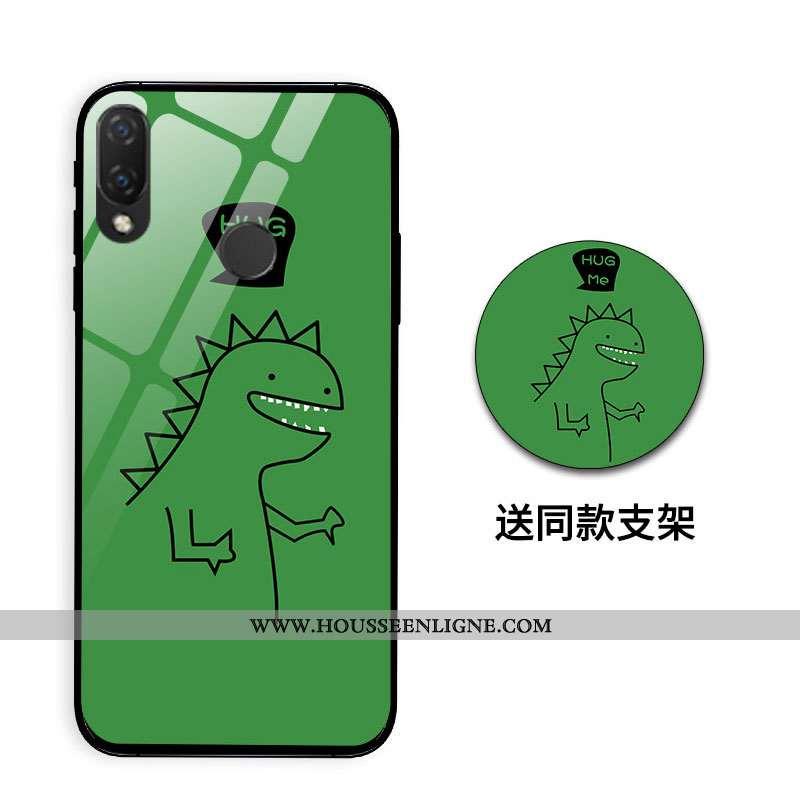 Housse Huawei P Smart+ Créatif Dessin Animé Étui Incassable Nouveau Tout Compris Miroir Verte