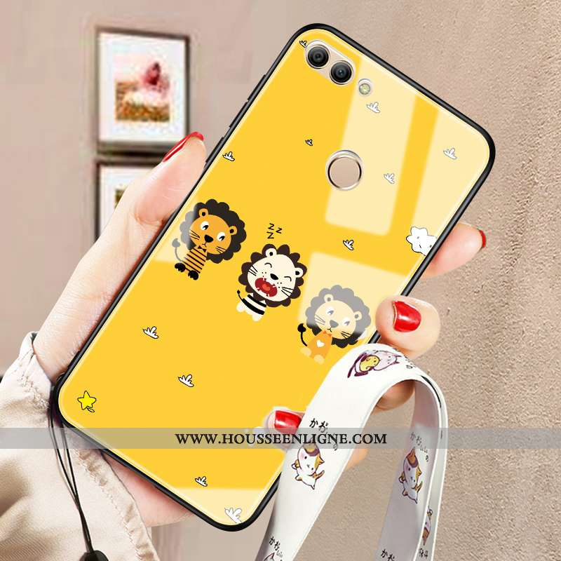 Housse Huawei P Smart Dessin Animé Tendance Coque Jaune Silicone Incassable Fluide Doux