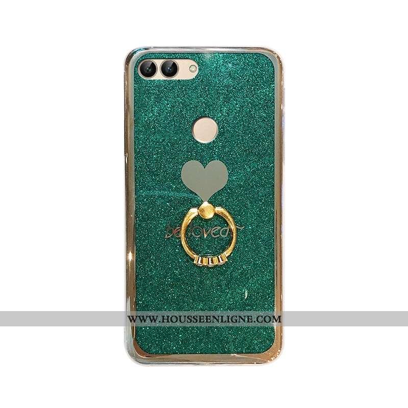Housse Huawei P Smart Fluide Doux Mode Amour Vert Placage Rose Personnalité Verte