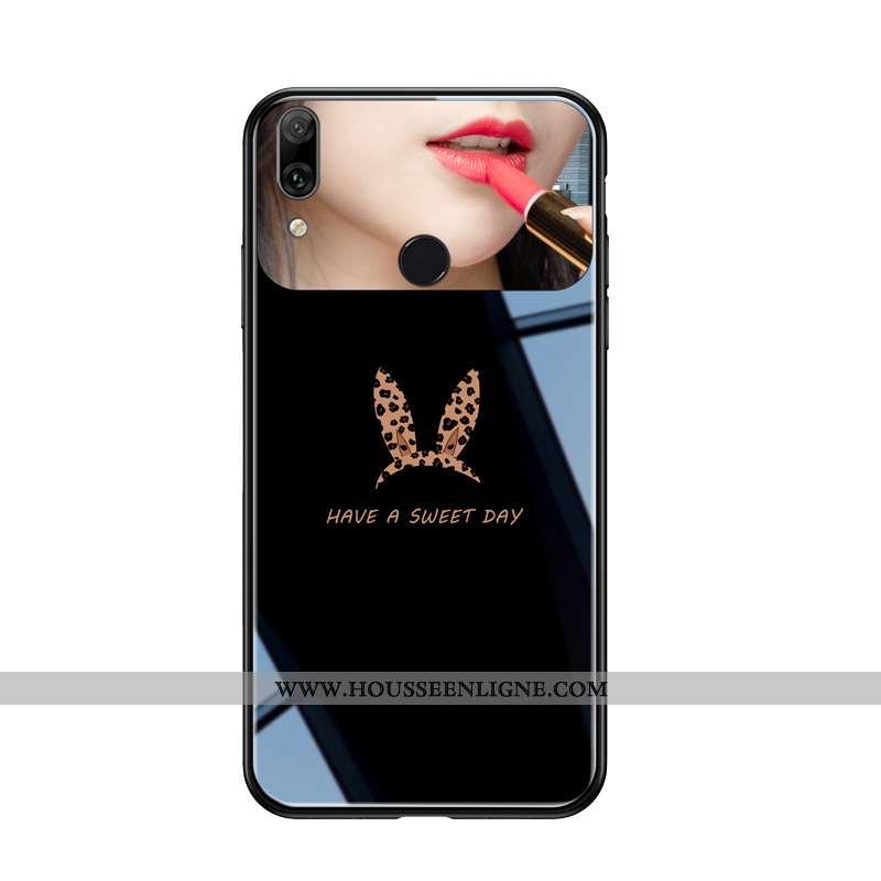 Housse Huawei P Smart+ Modèle Fleurie Fluide Doux Difficile Protection Téléphone Portable Amoureux T