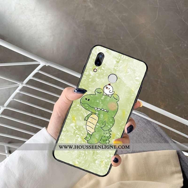 Housse Huawei P Smart+ Personnalité Créatif Dessin Animé Vert Légère Ultra Verre Verte