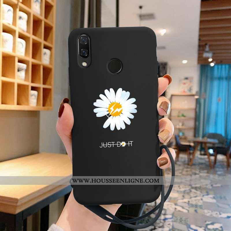 Housse Huawei P Smart+ Personnalité Créatif Protection Support Ultra Tendance Légère Noir