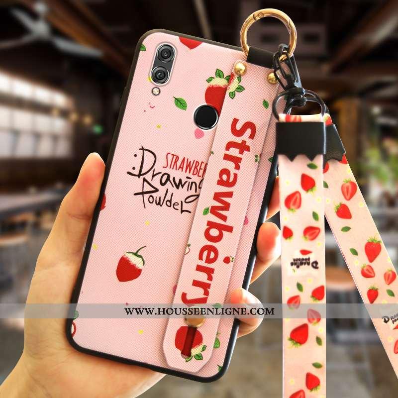 Housse Huawei P Smart+ Tendance Silicone Incassable Étui Rose Tout Compris Téléphone Portable