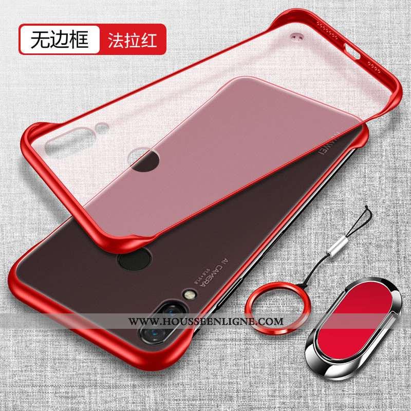 Housse Huawei P Smart+ Transparent Délavé En Daim Téléphone Portable Légère Tendance Étui Ultra Roug