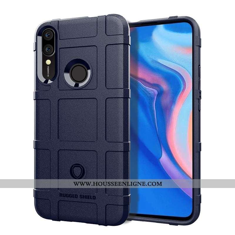Housse Huawei P Smart Z Bleu Marin Étui Coque Téléphone Portable Bleu Foncé