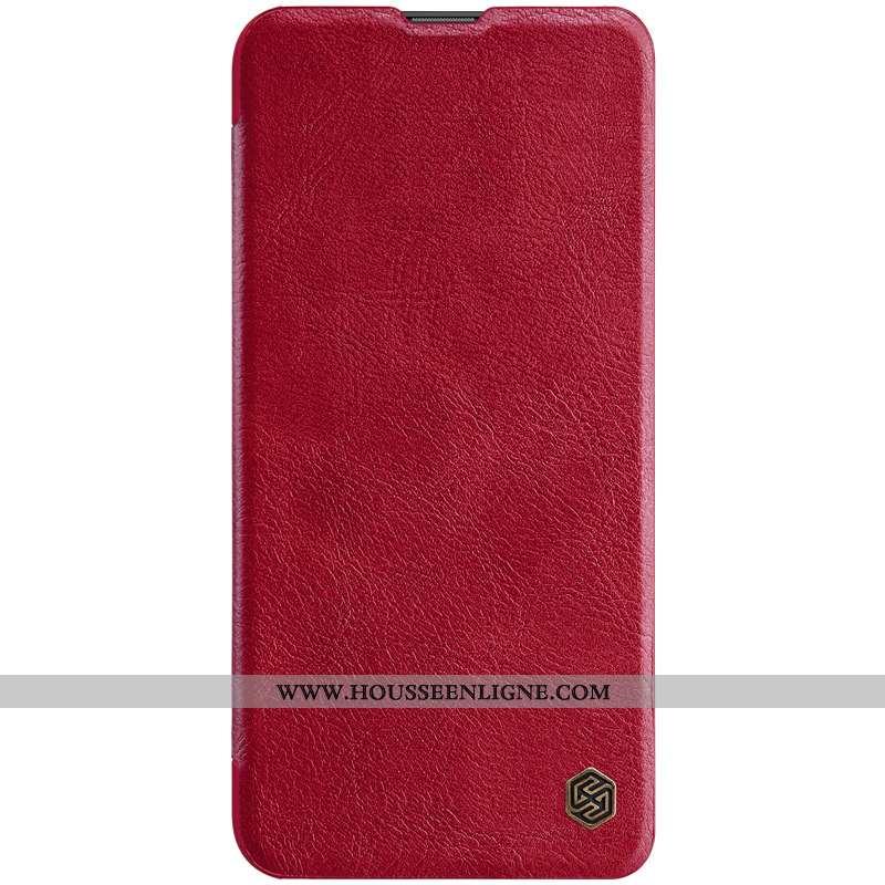 Housse Huawei P Smart Z Cuir Rouge Téléphone Portable Étui
