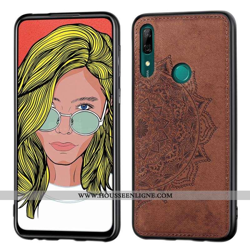 Housse Huawei P Smart Z Personnalité Créatif Coque Téléphone Portable Modèle Fleurie Incassable Tiss