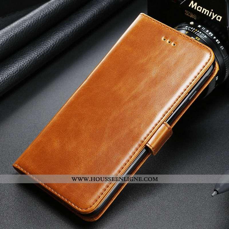Housse Huawei P20 Cuir Véritable Téléphone Portable Rouge Plier Jaune Reversible
